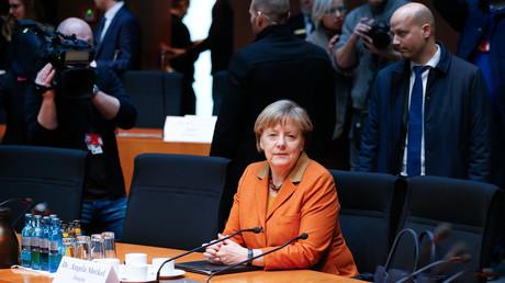 Bundeskanzlerin Angela Merkel vor dem NSA-Untersuchungsauschuss
