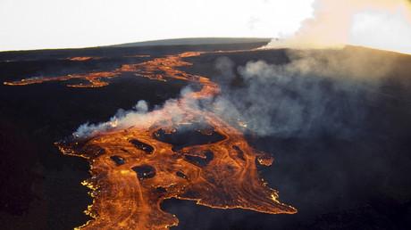 Der weltweit aktivste Vulkan Mauna Loa auf Hawaii. USA, 19. Juni 2014.