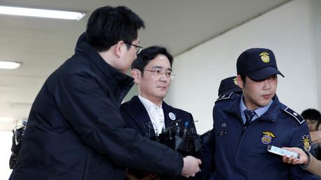 Samsungs Jay Y. Lee nach seiner Verhaftung in Seoul, Südkorea,  18. Februar 2017.