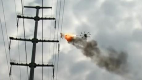 Chinesische Drohnen speien Feuer
