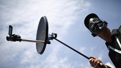 Protest gegen Überwachung - doch der große Lauschangriff geht weiter.