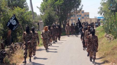 Kämpfer der IS-Organisation Chalid ibn Walid.