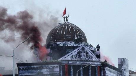 Freizeitpark bei Moskau bekommt Miniatur des Reichstagsgebäudes für Militärübungen (Illustration)