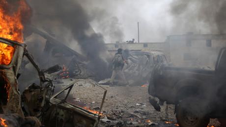 Kampfszene aus al-Bab, Nordsyrien