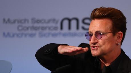 U2-Frontmann Bono auf der Münchner Sicherheitskonferenz