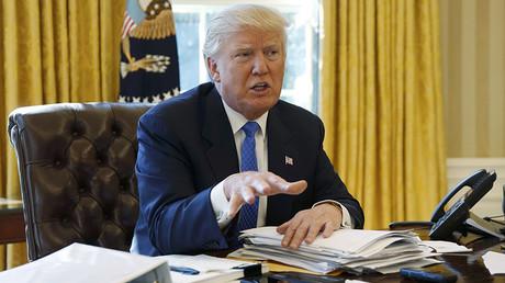 US-Präsident Donald Trump betont, er wolle die globale militärische Vormachtstellung der USA auf allen Ebenen aufrechterhalten.