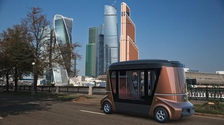 Erstes Video des autonomen Matrёshka-Elektrobusses für Gäste der Fußball-WM 2018 veröffentlicht