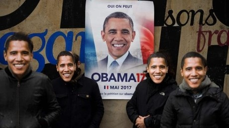 Paris wirbt für Barack Obama als französischen Präsidentschaftskandidaten 2017