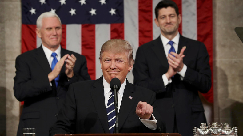 Mehr Rüstung, mehr Sicherheit, weniger Soziales: Donald Trump hält seine erste Rede