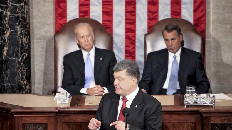 Ukrainischer Präsident Poroschenko im US-Kongress