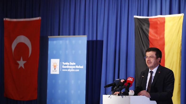 Hitzige Wortgefechte beim Besuch des türkischen Wirtschaftsministers Zeybekçi in NRW