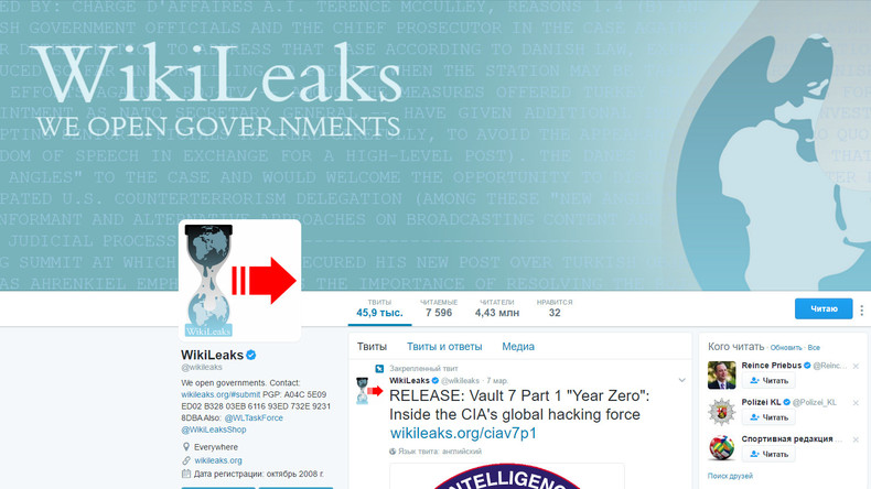 WikiLeaks: Bisher haben wir weniger als ein Prozent der CIA-Dateien veröffentlicht