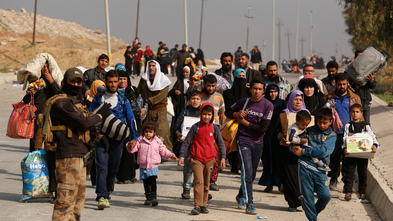Intensive Kämpfe um Mossul: Zehntausende Zivilisten auf der Flucht