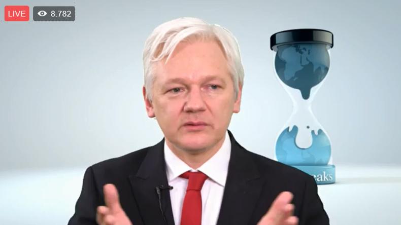 "Live: Julian Assange gibt Pressekonferenz zu CIA-Leak ""Vault7"""