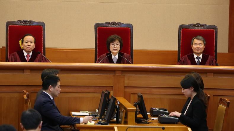 Südkoreanisches Verfassungsgericht enthebt Präsidentin Park Geun-hye des Amtes