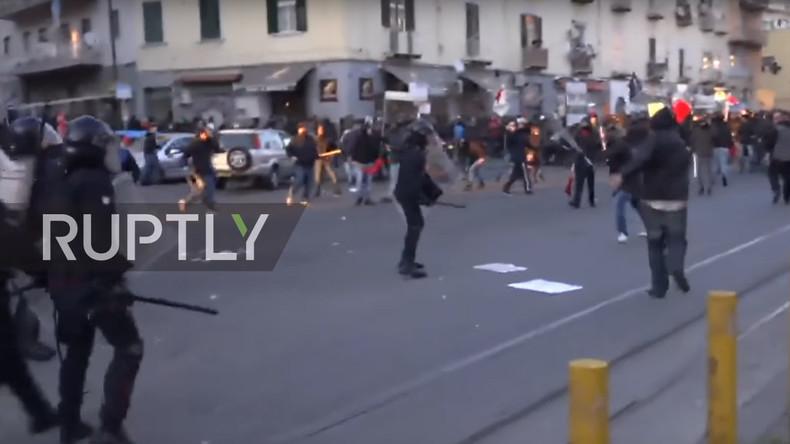 Protest gegen Lega Nord in Neapel mündet in Zusammenstöße mit Polizeikräften