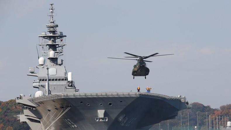Japan entsendet größtes Kriegsschiff als Machtdemonstration gegen China ins Südchinesische Meer