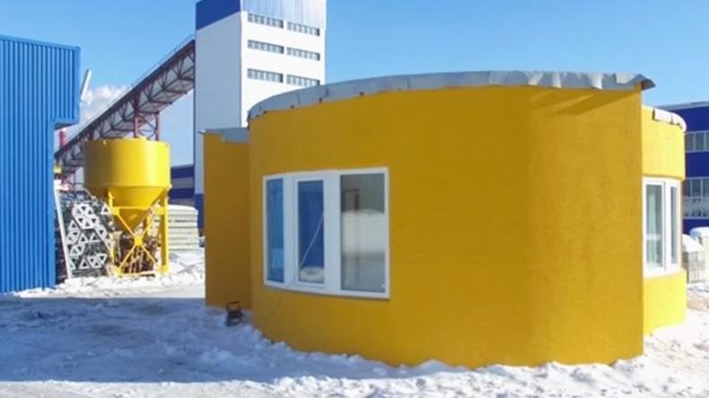 Weltweit erstes Wohnhaus komplett mit 3D-Drucker an einem Tag in Russland gedruckt