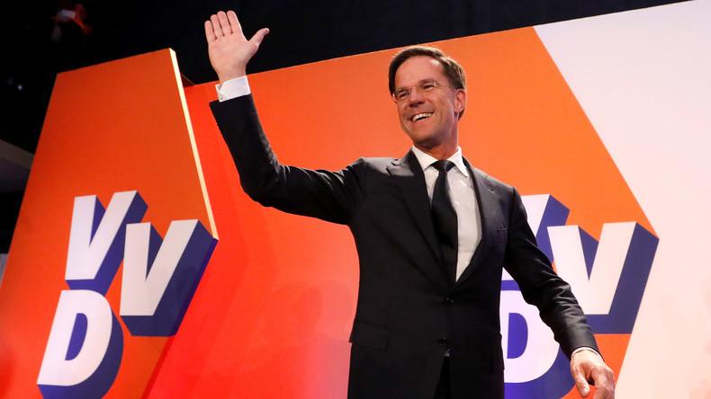 Niederlande: Mark Ruttes Partei führt mit 21,2 Prozent