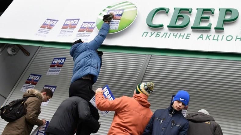 Kiew verhängt Sanktionen gegen russische Banken