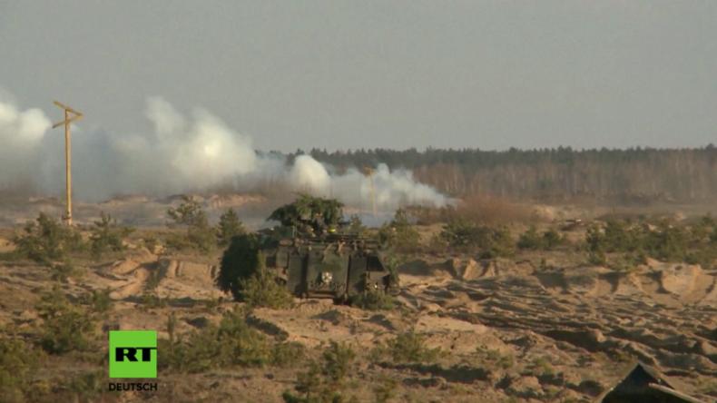 NATO-Militärtraining auf dem Truppenübungsplatz Rukla in Litauen unter deutscher Führung.