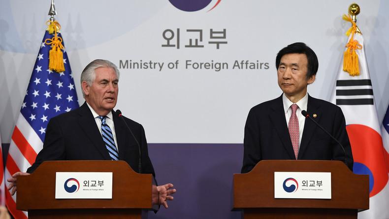 US-Außenminister droht Nordkorea: Unsere strategische Geduld ist am Ende, bereit für Militärschlag