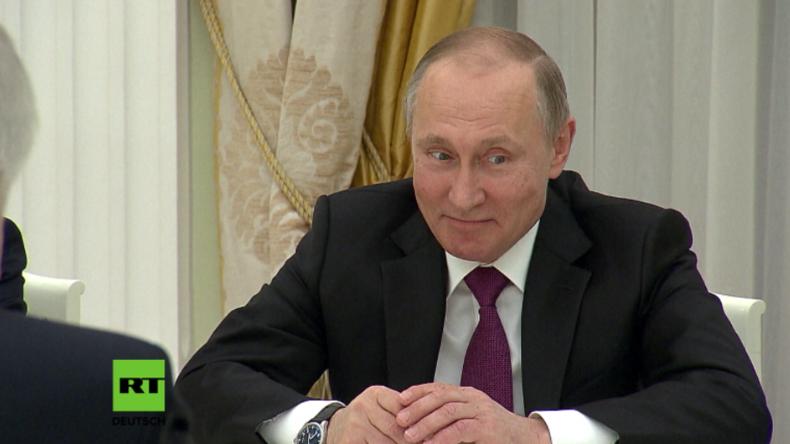 """Putins Reaktion auf Merkels """"besonders herzliche Grüße"""""""