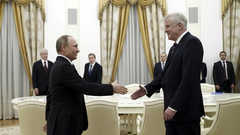 """Seehofer nach Treffen mit Putin in Moskau: """"Sanktionen müssen überwunden werden"""""""