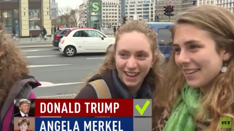 Straßenbefragung in Berlin: Wer hat es gesagt, Merkel oder Trump?