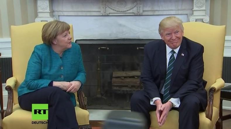LIVE: Merkel und Trump geben gemeinsame Pressekonferenz nach erstem Treffen