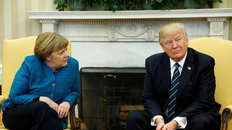 """Trump """"überhörte"""" Handschlag-Anfrage von Merkel"""