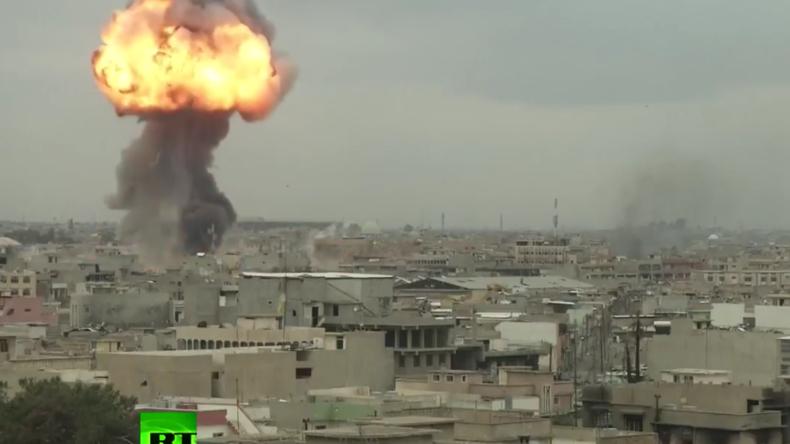 Explosion in West-Mossul.