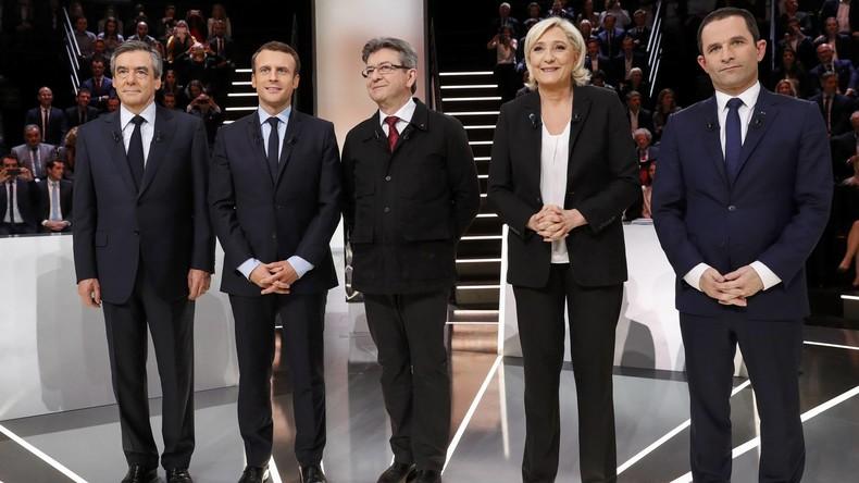 TV-Präsidentschaftsdebatte in Frankreich: Einwanderung, Rolle von EU, Beziehung zu USA und Russland