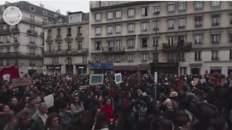 360°-Video: Mittendrin in der Demonstration gegen Polizeigewalt in Paris