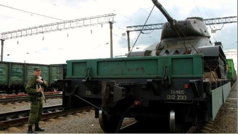Moskauer will T-34-Panzer aus Russland per Eisenbahn schmuggeln und wird ertappt