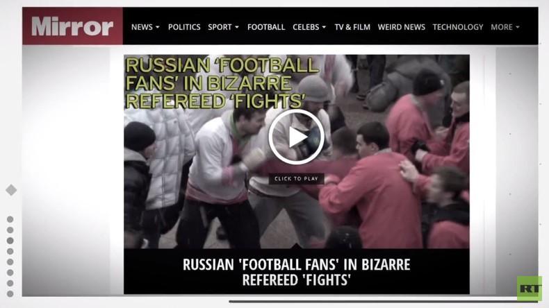 """""""Sie könnten getötet werden"""" - Sensationsartikel über russische Hooligans nutzt Volksfestbilder"""
