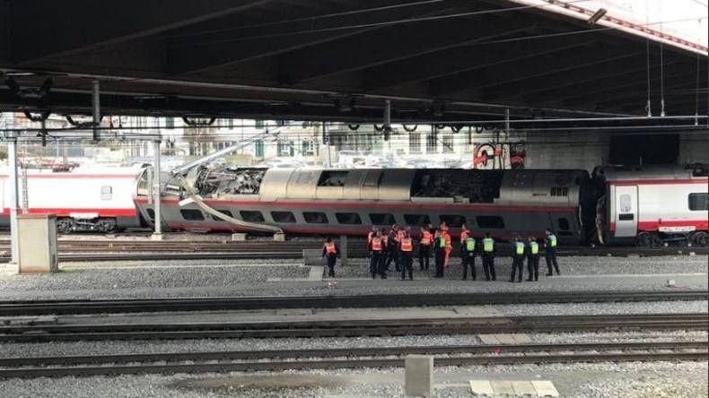 Am schweizer Bahnhof Luzern Zug entgleist - Bahnverkehr unterbrochen
