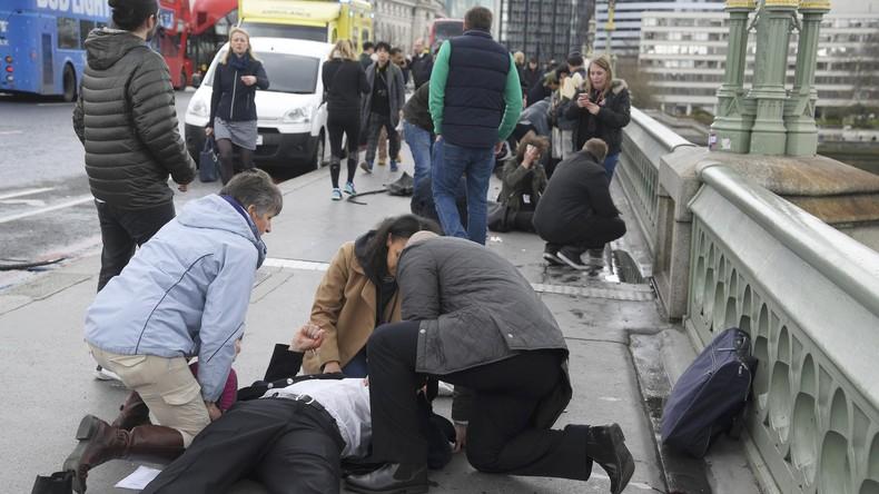 Anschlag in London: Polizei eröffnet Feuer auf Angreifer - VIDEO