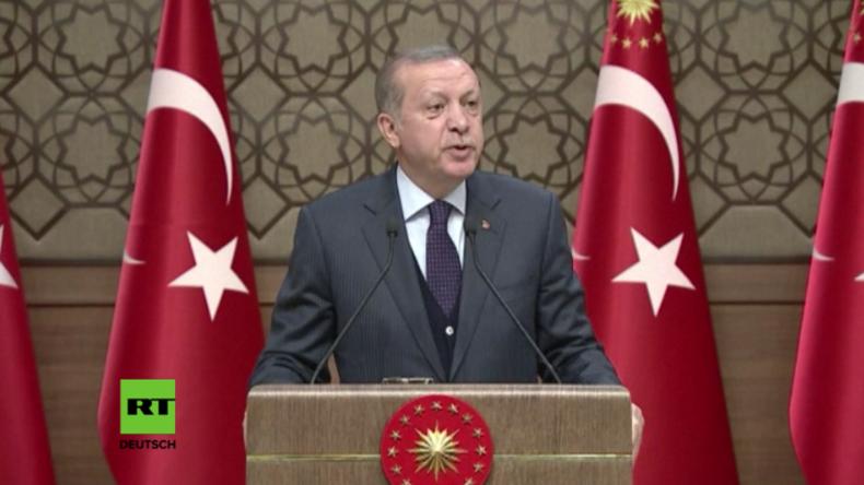 Erdogan während seiner Rede gestern in Ankara.