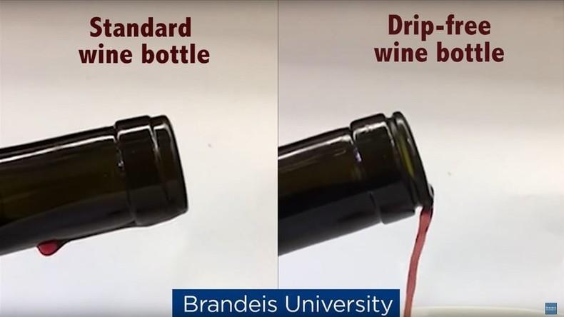 Weinflasche entwickelt, die beim Einschenken nicht tropft [VIDEO]