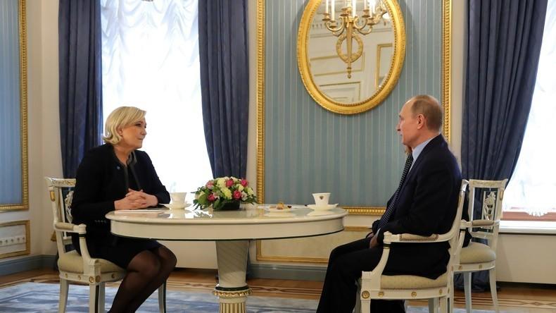 Putin nach Treffen mit Le Pen: Wir behalten uns Recht vor, mit allen politischen Kräften zu sprechen
