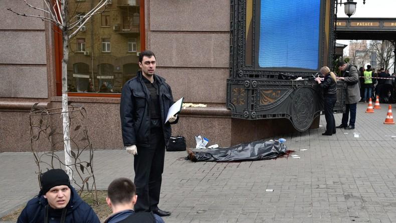 Überwachungskameras halten Ermordung von Ex-Duma-Mann Denis Woronenkow fest [VIDEO]