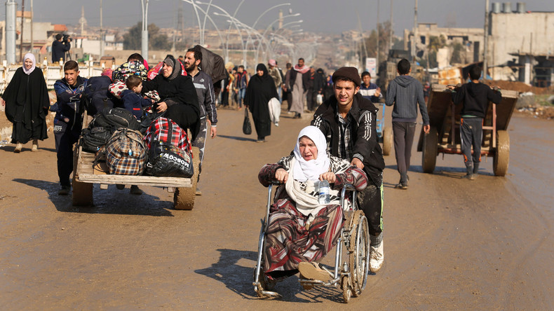 West-Mossul: 200.000 Zivilisten fliehen vor heftigen Kämpfen