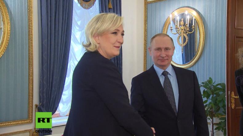 Putin und Le Pen treffen in Moskau erstmals zusammen.