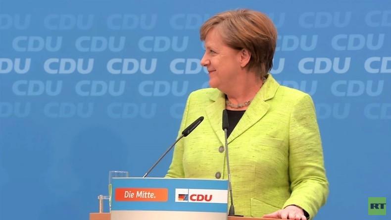 Angela Merkel auf der Pressekonferenz: Anti-NATO-Programm bringt keinen Wahlerfolg