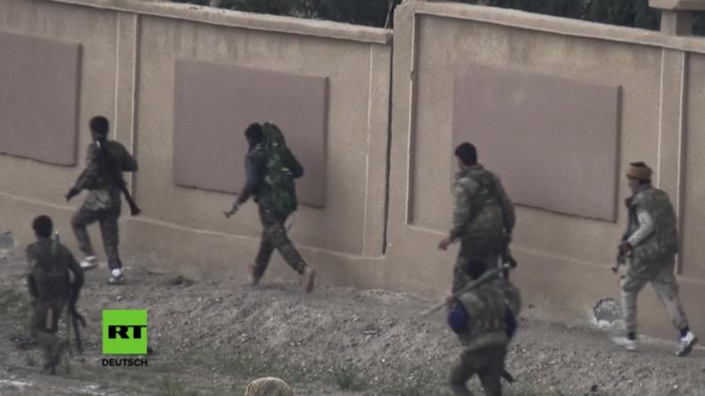 SDF-Soldaten im Einsatz gegen den IS.