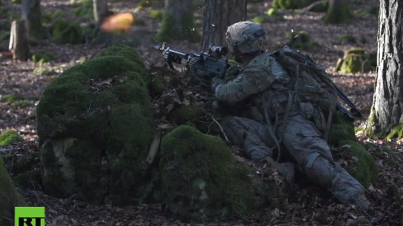 Übung der US-Armee in Hohenfels: Feindliches Feuer im Wald