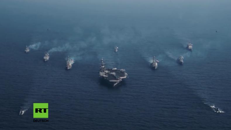 Massives Militärmanöver der USA und Südkorea - Hunderttausende Soldaten üben Krieg im Meer