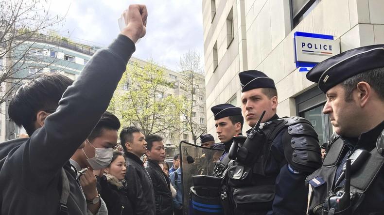 Paris: Gewaltsame Zusammenstöße zwischen Polizei und chinesischen Demonstranten