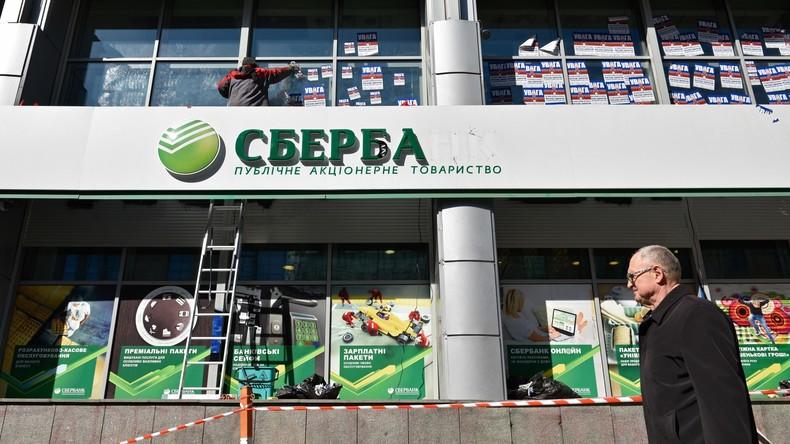 Russische Sberbank verkauft ukrainisches Tochterunternehmen